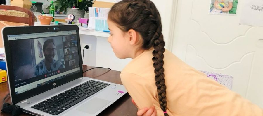 Studying philosophy at the King David Junior School in distance learning